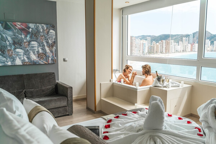 Habitación hotel villa venecia boutique gourmet benidorm